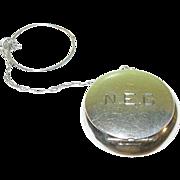 Vintage Sterling Religeous Medal & Case
