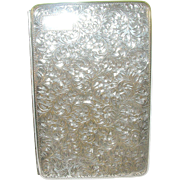 Antique Sterling Silver Cigarette Case French