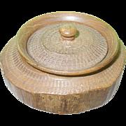 Vintage Treen Ware Lidded Box
