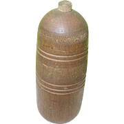 Vintage Treen Ware Cylindrical Box & Lid