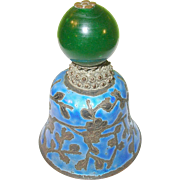Vintage Silver Plate Enameled Chinese Bell