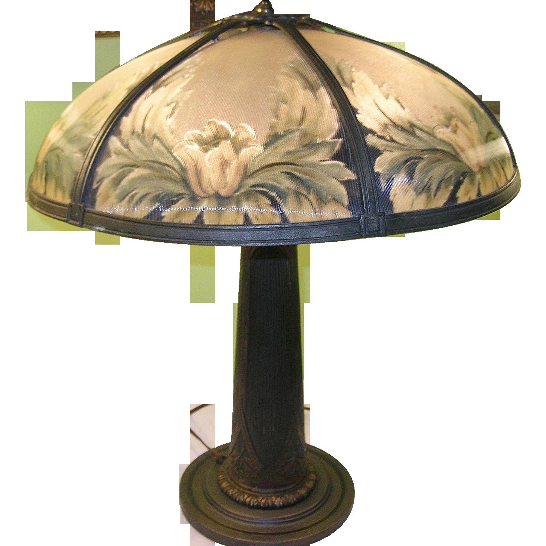 Vintage Bronze Bradley Amp Hubbard Table Lamp Reverse