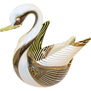 Vintage Murano Glass Swan Bowl
