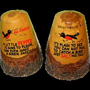Vintage Treen Ware Salt & Pepper Shakers