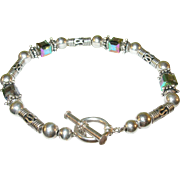 Vintage Sterling Silver Bead Bracelet