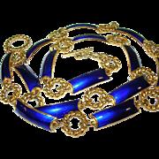 Vintage Gucci Enamel Gold Belt Necklace