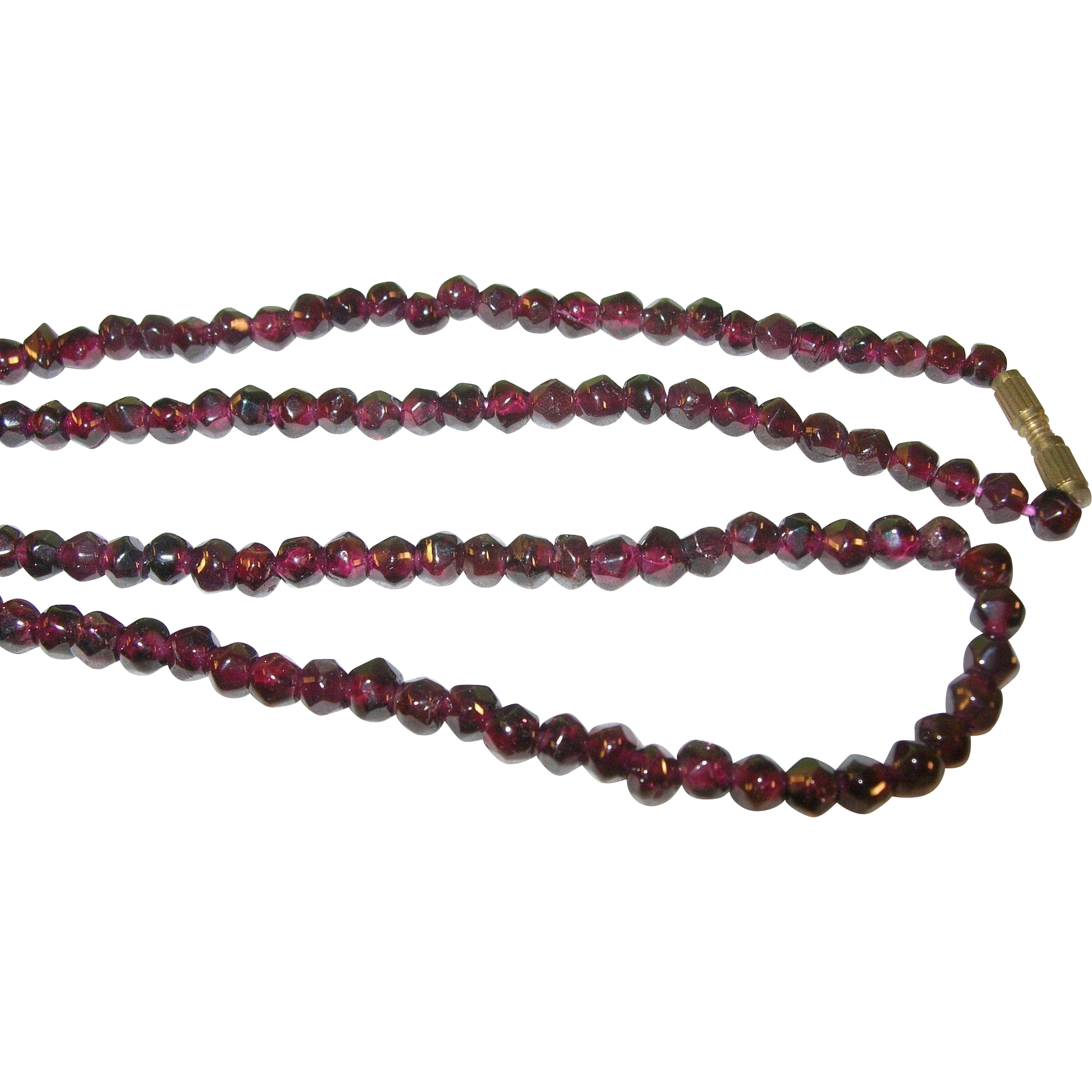 vintage garnet bead necklace from robbiaantique on ruby