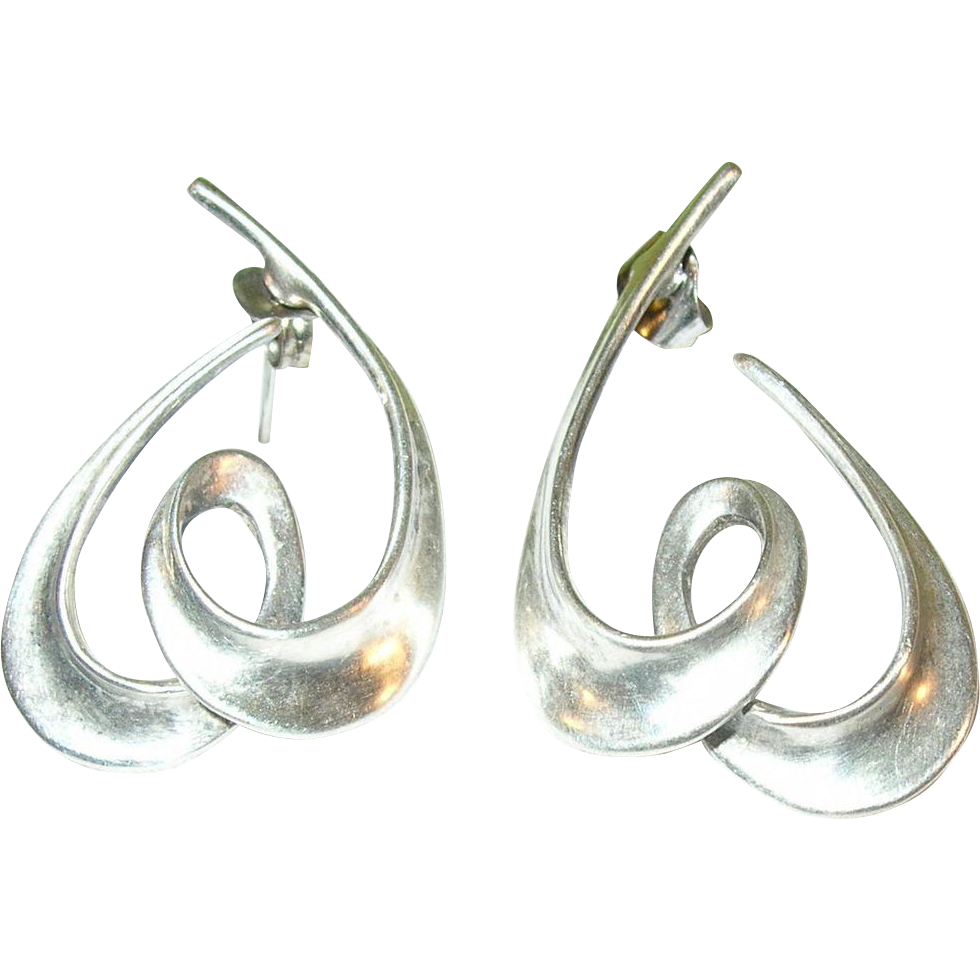 Vintage Sterling Silver Earrings 4