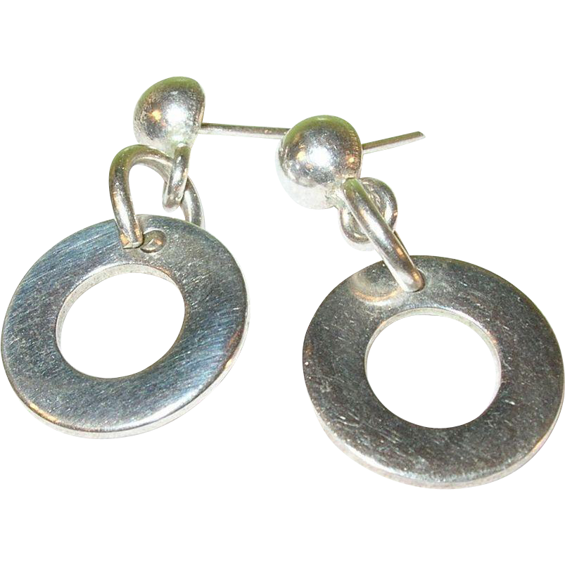 Vintage Sterling Silver Earrings 115