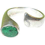 Vintage Sterling Silver & Chrysocolla Ring