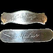 Vintage Sterling Silver Barrettes