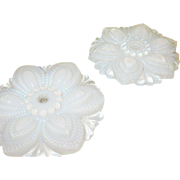 Opalescent Curtain Tie Back by Sandwich Glass Co Pair