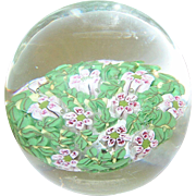 Vintage Art Glass Paperweight Millefiori