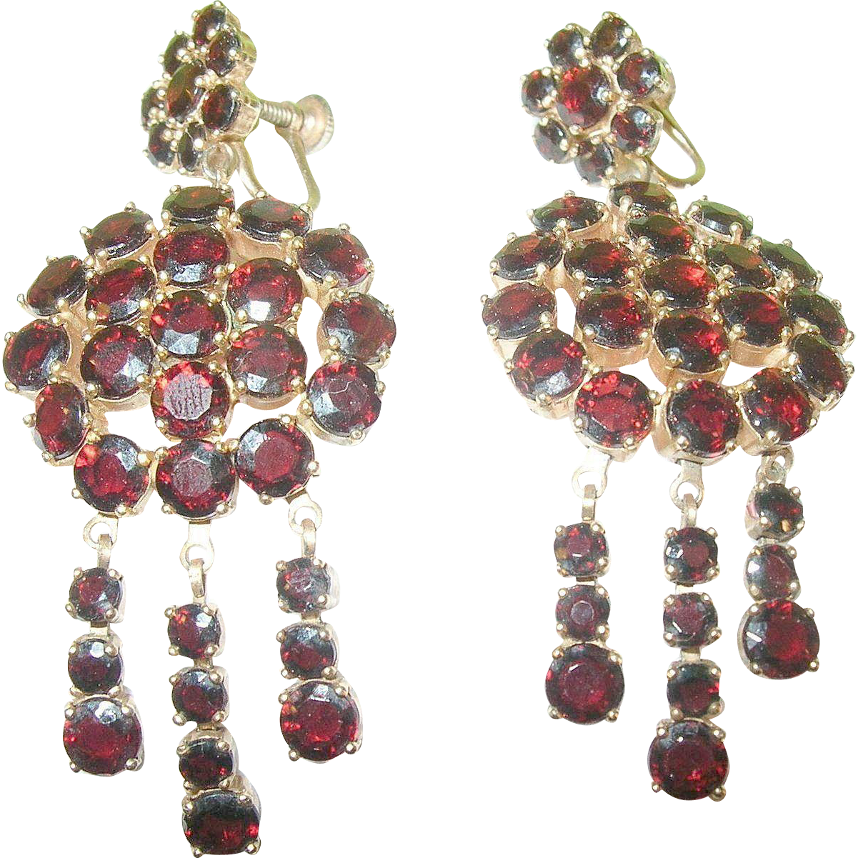 Permalink to Garnet Drop Earrings