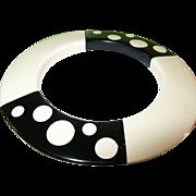 Plastic Black & White Dot Bracelet