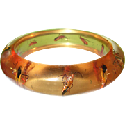 Vintage Lucite Bangle Infused Insects