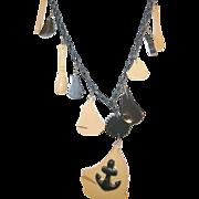 Vintage Bakelite Nautical Necklace