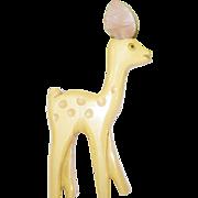 Vintage Bakelite Martha Sleeper Deer Brooch