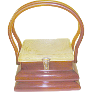 Vintage Bakelite / Apple Juice Lucite Handbag by Rialto NY