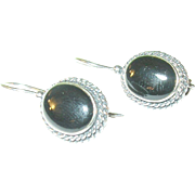Vintage Sterling Black Onyx Earrings