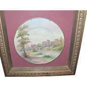 "Vintage Royal Worcester Plate ""Alnurch Castle"" in Shadow Box"