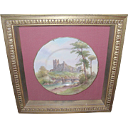 Vintage Royal Worcester Plate in Shadow Box