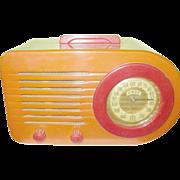 Vintage Bakelite Bullet Radio FADA 1000 Butterscotch