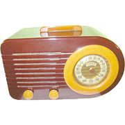 Vintage Bakelite Bullet Radio FADA 1000 Maroon / Butterscotch