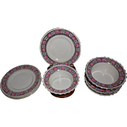 4 sets of CT Altwasser Germany Rose Floral Porcelain Ramekins