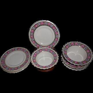 4 sets of CT Altwasser Germany Rose Floral Porcelain Ramekins