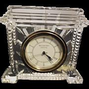 Waterford Crystal Colliseum Desk Clock