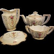 Crown Ducal England 4 piece Tea Set