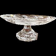 Lead Crystal Cake Plate