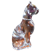 Baccarat Egyptian Crystal Cat