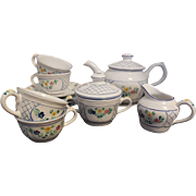 Herend Village Pottery Lattice Tea Set