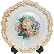 Coiffe Floral Limoges France Plate