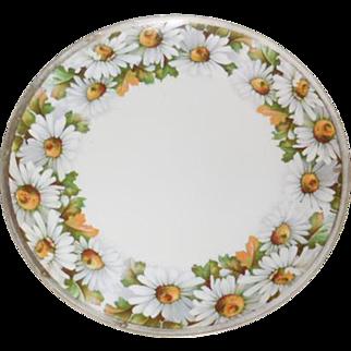 "Antique Hand Painted O & E Gutherz Austrua 8.75"" Daisy Plate"