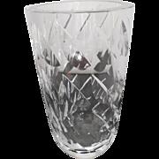 Orrefors Lead Crystal Vase - Hallmarked