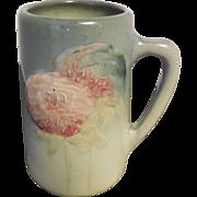 Antique Weller Etna Mug Hand Painted 1906 Carnations