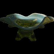 Jefferson Topaz Opalescent Glase Whimsey Bowl