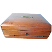 Antique Rare 1866 Triple Opening Locking Letter Box with Key