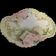 Antique ELITE LIMOGES France  Porcelain Dresser Tray Artist Signed
