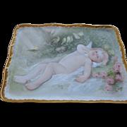 Antique Stamped Porcelain D & C  Limoges Vanity Tray 1879/1900
