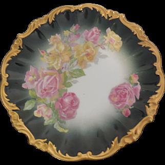Limoges France Wm.Guerin & Co. Porcelain Floral Plate