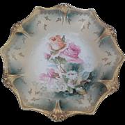 Antique RS Prussia  Porcelain Floral Bowl
