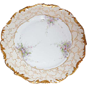 T & V Limoges Porcelain Cabinet Plate, 9.5 inches, circa 1892