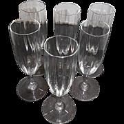 6 Baccarat Dom Perignon Crystal Flutes
