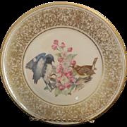Lenox Edward Marshall Boehm Black Throated Blue Warbler Plate