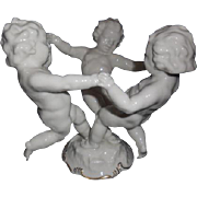 Hutschenreuther Porcelain Cherbs Playing Figurine