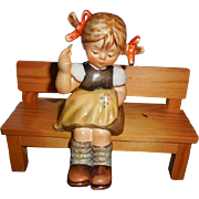 Goebel Hummel Figurine # 758 Nimble Fingers, 4.5 inches in height